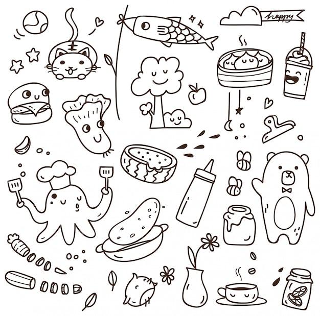 Set van verschillende doodles