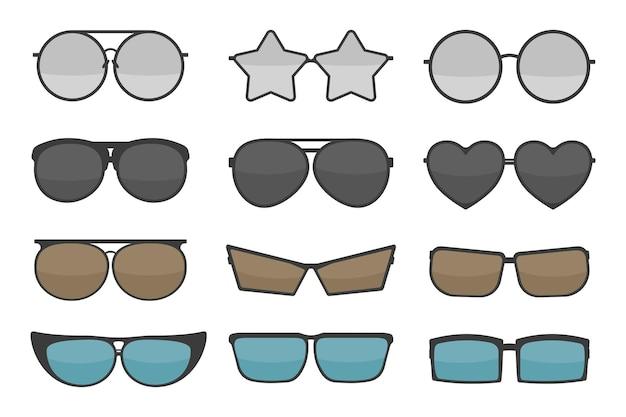 Set van verschillende glazen