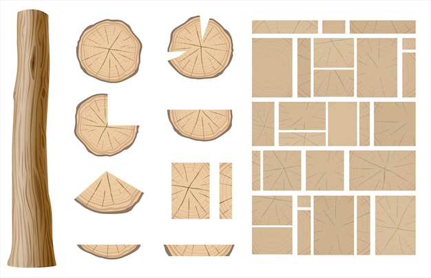 Set van verschillende houten texturen