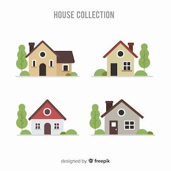 Set van verschillende huizen