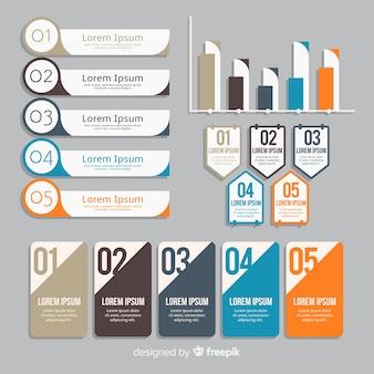 Set van verschillende infographic elementen