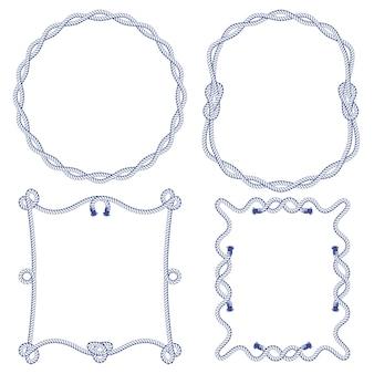 Set van verschillende knopen en frames-elementen