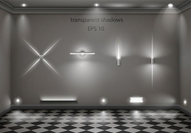 Set van verschillende lampen