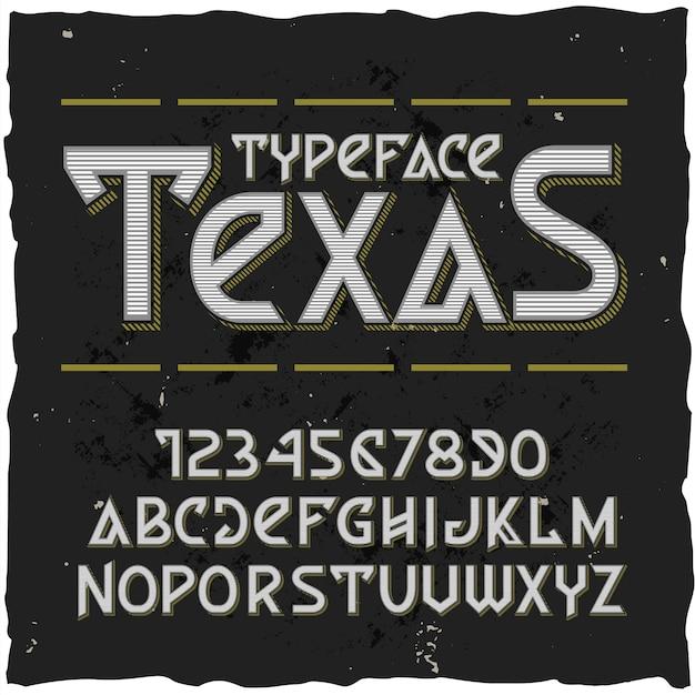 Set van verschillende letters