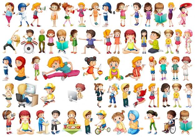 Set van verschillende mensen