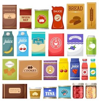 Set van verschillende producten