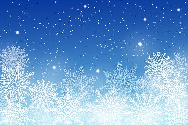 Set van verschillende sneeuwvlokken op illustratie