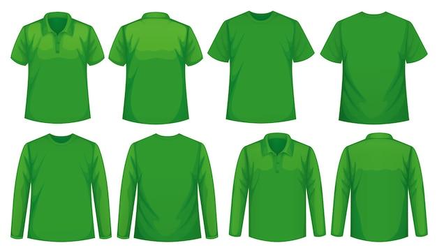 Set van verschillende soorten overhemd in dezelfde kleur