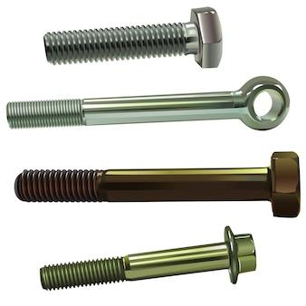Set van verschillende type schroeven