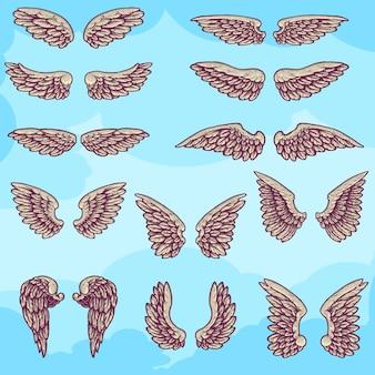 Set van verschillende vleugels