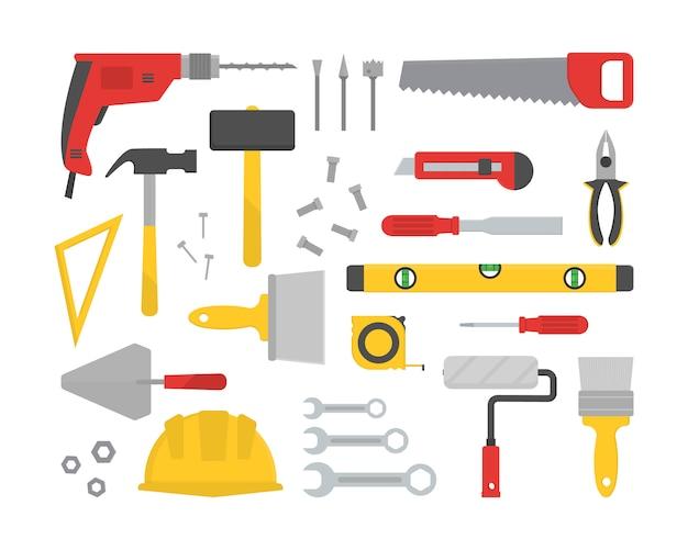 Set van verschillende werkende hulpmiddelen