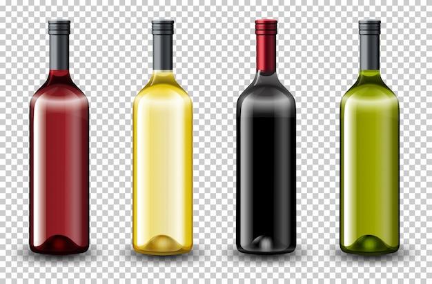 Set van verschillende wijnfles