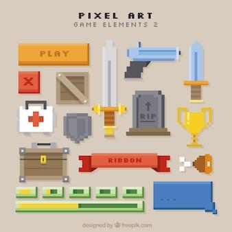 Set van video game wapens en items