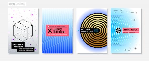 Set van vier abstracte achtergronden