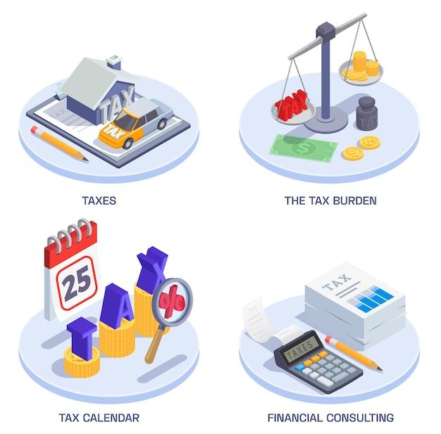 Set van vier geïsoleerde illustratie