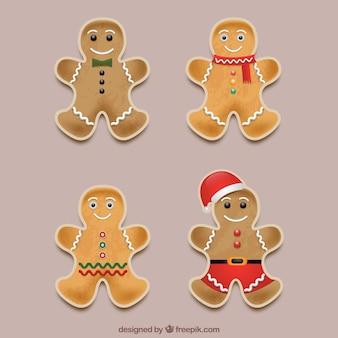 Set van vier peperkoek man cookies