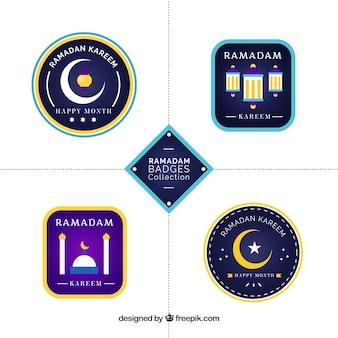 Set van vijf ramadan-labels