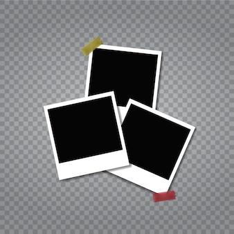 Set van vintage fotolijst met plakband.