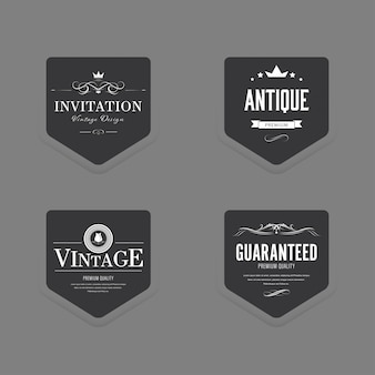 Set van vintage label oude mode luxe badge.