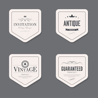 Set van vintage label ouderwetse badge. banner afbeelding.