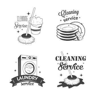 Set van vintage logo's