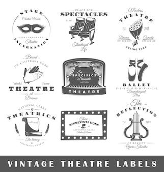 Set van vintage theater logo's