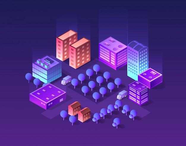 Set van violette kleuren