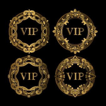 Set van vip gouden frame luxe