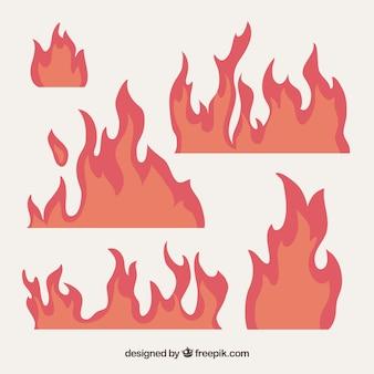Set van vlammen