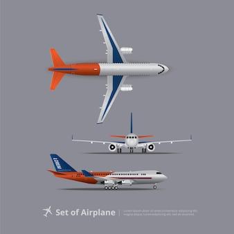 Set van vliegtuig geïsoleerd vectorillustratie