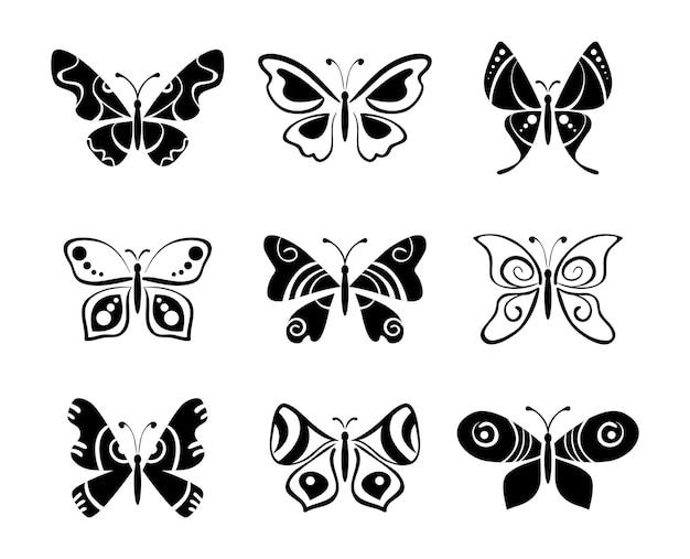 Set van vlinders