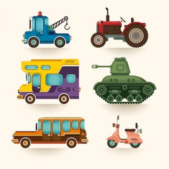 Set van voertuigen