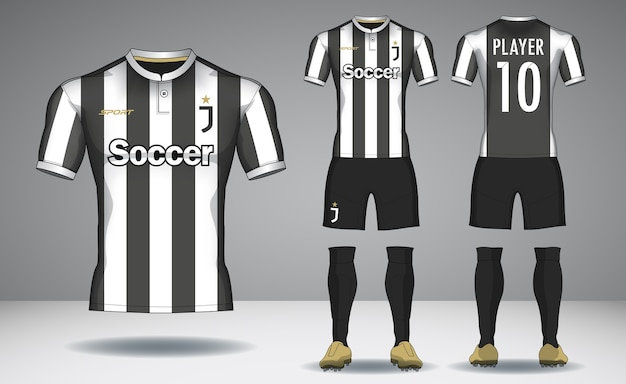 Set van voetbal kit, sport t-shirt design.