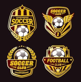 Set van voetbal logo ontwerpsjablonen