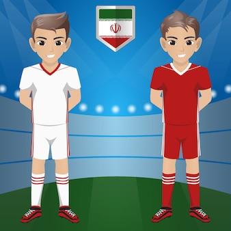 Set van voetbal / voetbal supporter / fans van iran national team