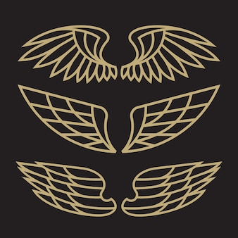 Set van vogel eagle en wing logo sjabloon