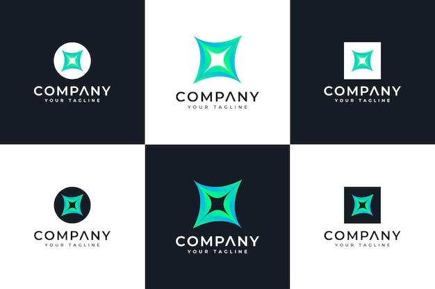 Set van vonk-logo creatief ontwerp voor alle toepassingen