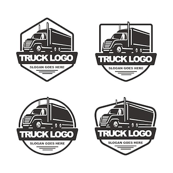 Set van vrachtwagen logo sjabloon