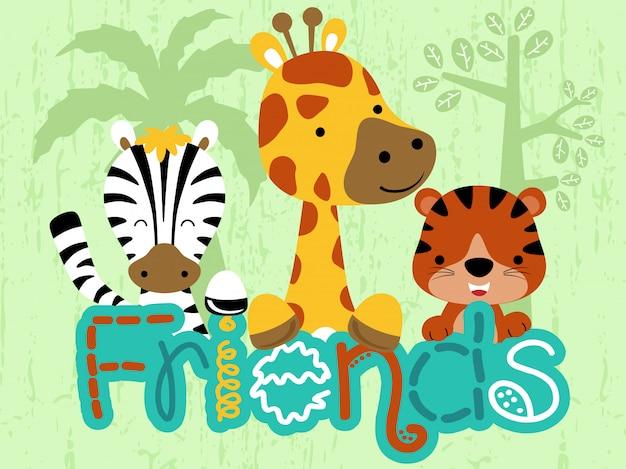 Set van vrolijke dieren cartoon
