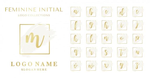 Set van vrouwelijk eerste logo-concept
