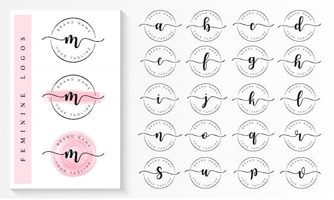 Set van vrouwelijke logo branding sjabloon vector
