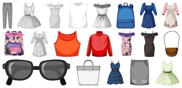 Set van vrouwelijke outfit