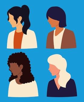 Set van vrouwen