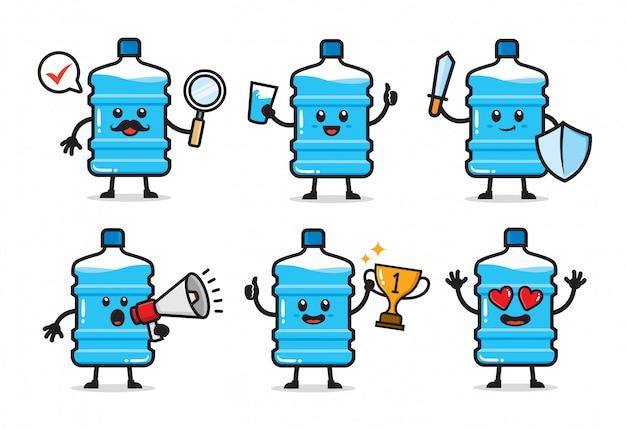 Set van water gallon characterdesign