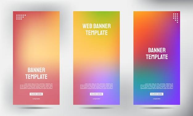 Set van wazig oprollen zakelijke brochure flyer banner ontwerp verticale sjabloon vector, dekking presentatie achtergrond, moderne publicatie x-banner en vlag-banner, oprolbare banner staan sjabloonontwerp