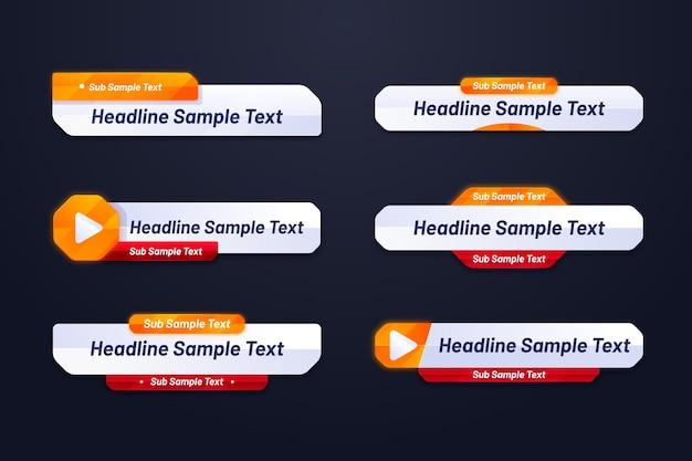 Set van websjabloon voor spandoek
