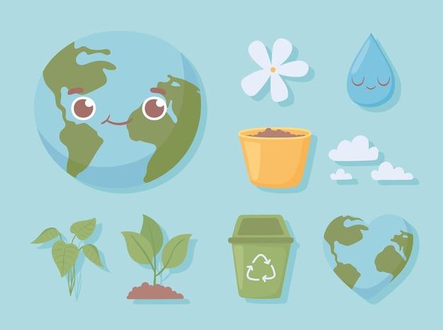 Set van wereld milieu