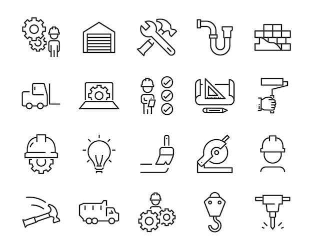 Set van werk pictogrammen