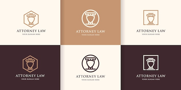 Set van wet pijler schild logo