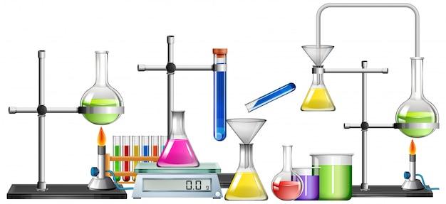 Set van wetenschap apparatuur